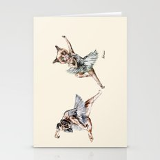 Hipster Ballerinas - Dog Cat Dancers Stationery Cards