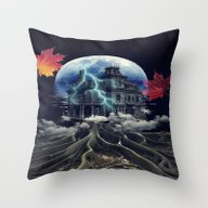 Throw Pillow featuring Rooted by Kiki Collagist