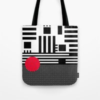 Stripes Mesh Tote Bag