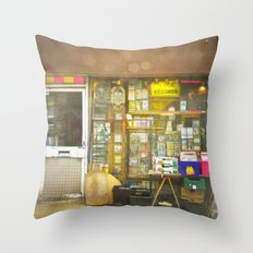 Record Store Throw Pillow