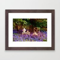 Afternoon Tea In The Blu… Framed Art Print