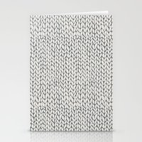 Hand Knit Grey Stationery Cards