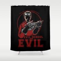 Dr. Horrible's Evil School of Evil Shower Curtain