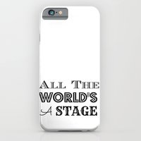 iPhone & iPod Case featuring All the world's a stage William Shakespeare Typography by MollyW