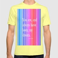 Nicholas Sparks Notebook… Mens Fitted Tee Lemon SMALL