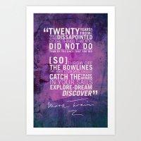 Dream, Explore, Discover… Art Print