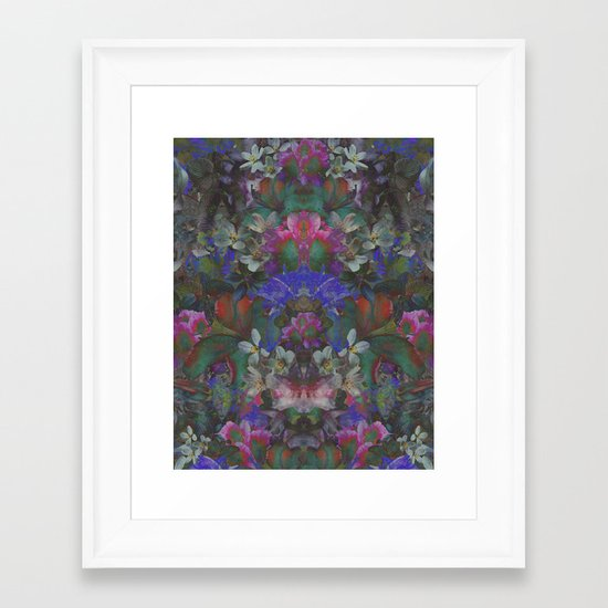 Midnight Garden Framed Art Print