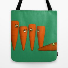 Is that a...zombie carrot!?!! Tote Bag