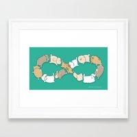 Moebius Sniff Framed Art Print