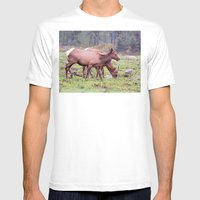 Snoqualmie Valley Elk Mens Fitted Tee White SMALL