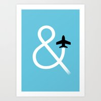 And Fly Art Print