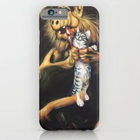 iPhone & iPod Case featuring Alf Devouring His Cat by Hillary White