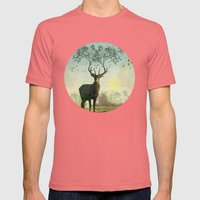 Evergreen Stage Horn Mens Fitted Tee Pomegranate SMALL