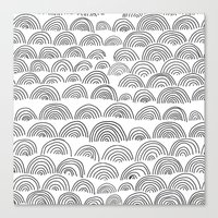 Half Circle Pattern Canvas Print