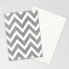 gray chevron Stationery Cards
