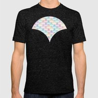 Pastel Wagon Wheels Mens Fitted Tee Tri-Black SMALL