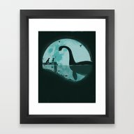 Encounter Under A Blue M… Framed Art Print