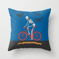 HELL ON WHEELS Throw Pillow