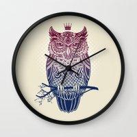 Warbird (Great-horned Ow… Wall Clock