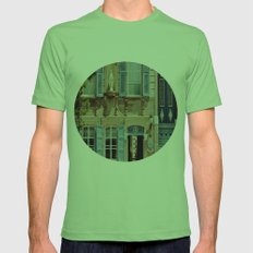 Blue Shutters In The Sun Mens Fitted Tee Grass SMALL