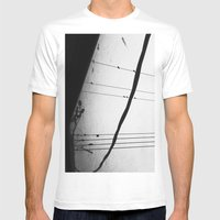Birds On A Wire Mens Fitted Tee White SMALL