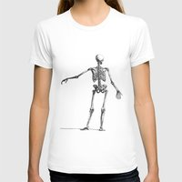 skeleton T-shirts featuring Skeleton by jane.y