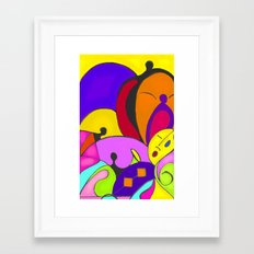 Can you feel the music Framed Art Print