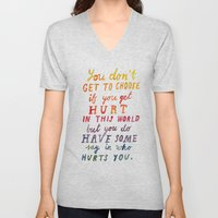 If You Get Hurt Poster Unisex V-Neck
