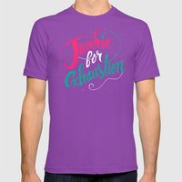 Junkie For Exhaustion Mens Fitted Tee Ultraviolet SMALL