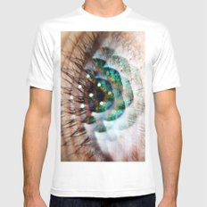 Green Eyed Beauty White Mens Fitted Tee SMALL