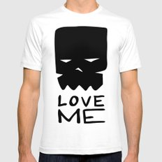 LOVE ME White Mens Fitted Tee SMALL