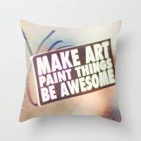 Hello Art Throw Pillow