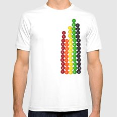 Skittle Stats Mens Fitted Tee White SMALL