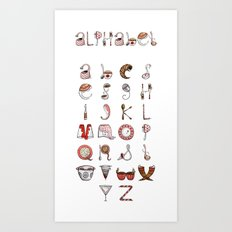 Spills & Spoons Alphabet Art Print
