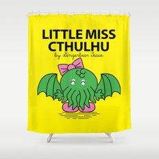Little Miss Cthulhu Shower Curtain