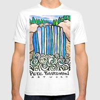 River Falls Mens Fitted Tee White SMALL