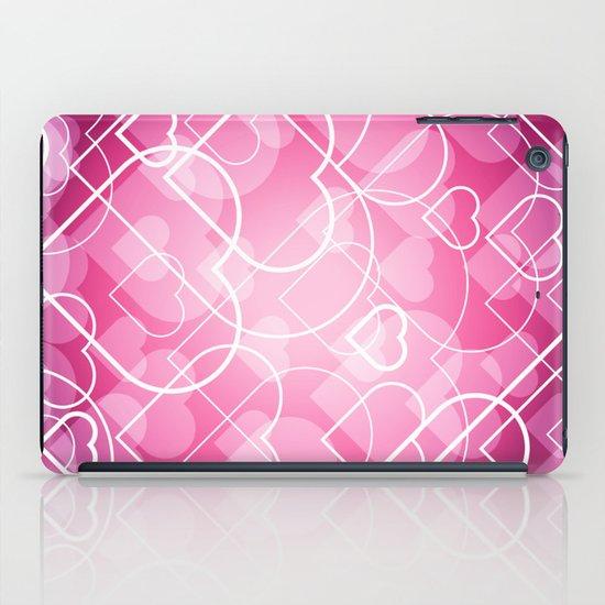 Hard line Heart Bokeh iPad Case