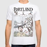 Portland, Oregon Mens Fitted Tee Ash Grey SMALL
