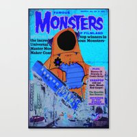 Urbnpop Famous Monsters Canvas Print