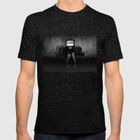 Lies Mens Fitted Tee Tri-Black SMALL