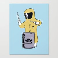 Toxic Beats Canvas Print
