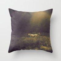 Pale Horse 1 Throw Pillow