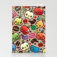 Apple Pattern Stationery Cards