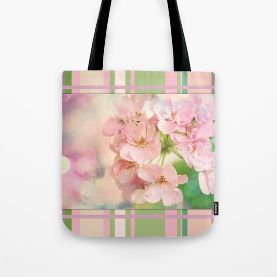Candy Pink, Lime Green, Vanilla Cream Tote Bag