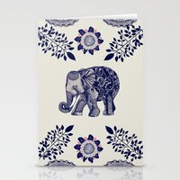 elephant Stationery Cards featuring Elephant Pink by rskinner1122