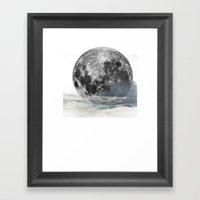 Low Moon Framed Art Print