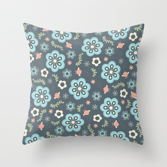Whimsy Floral Throw Pillow