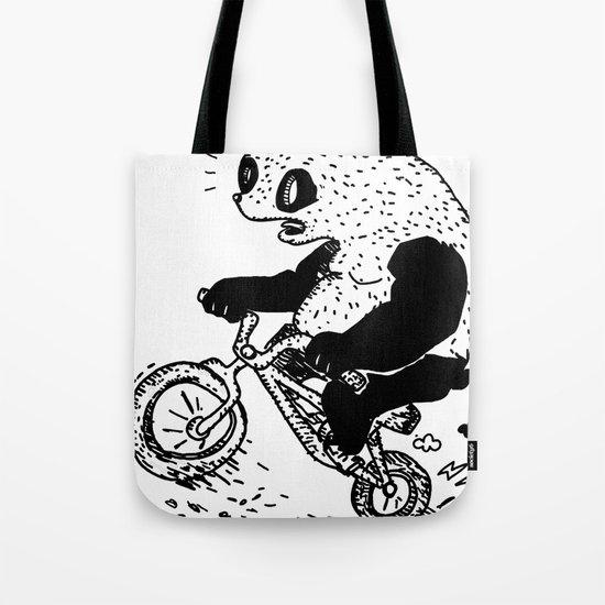 Dirt Jump Panda Tote Bag