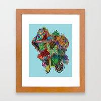 Crystalised Colour Framed Art Print