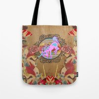 Giddy-Up Fairytale Cowgirl Unicorn Tote Bag